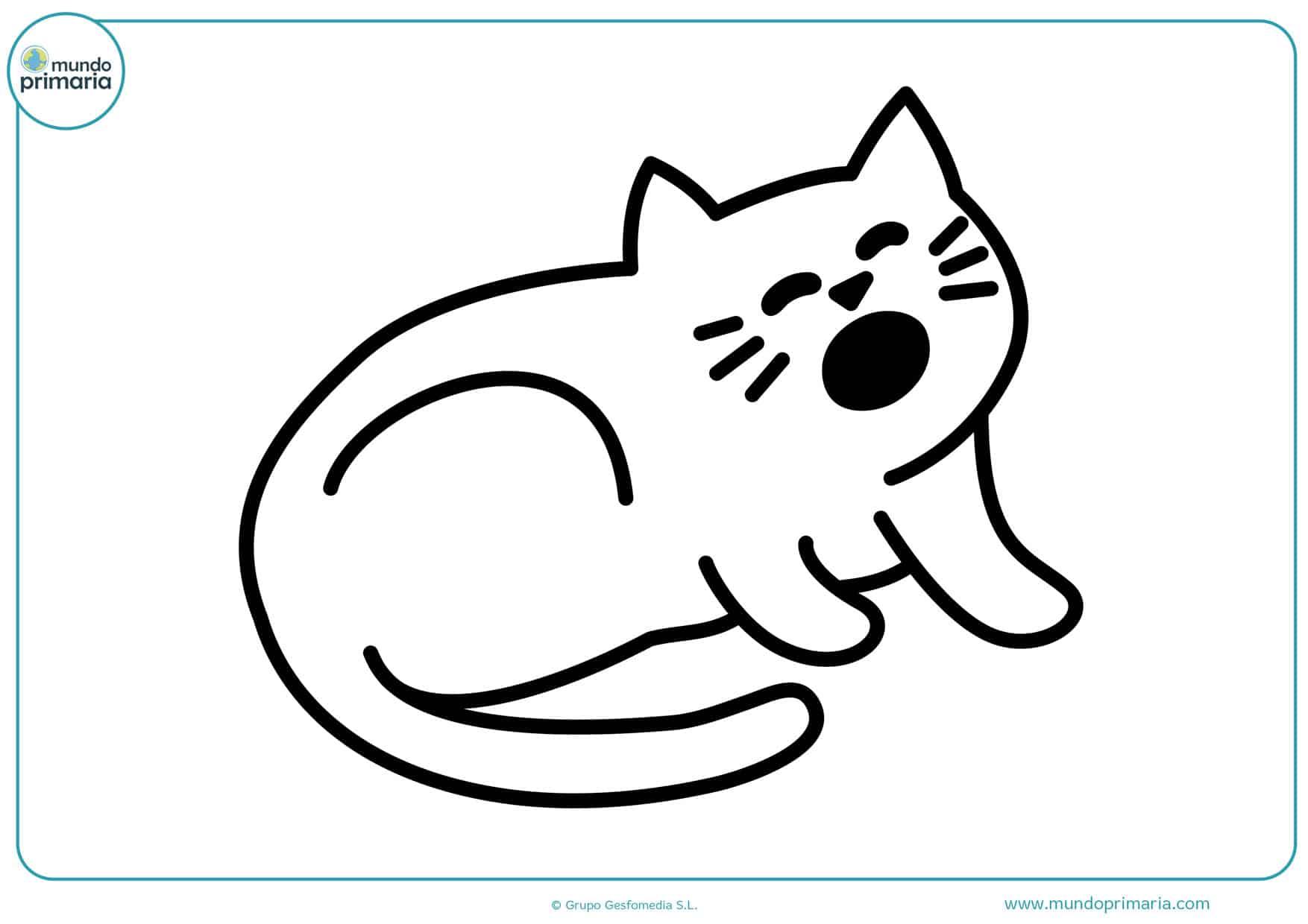 dibujos para colorear de animales gatos