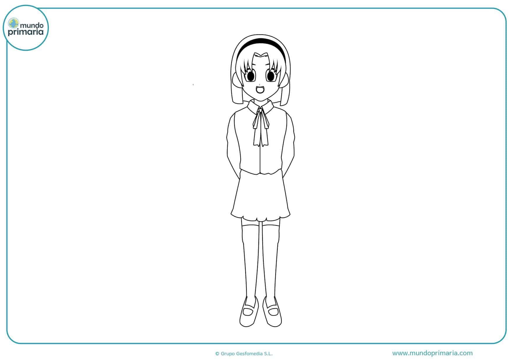 dibujos para colorear de anime manga