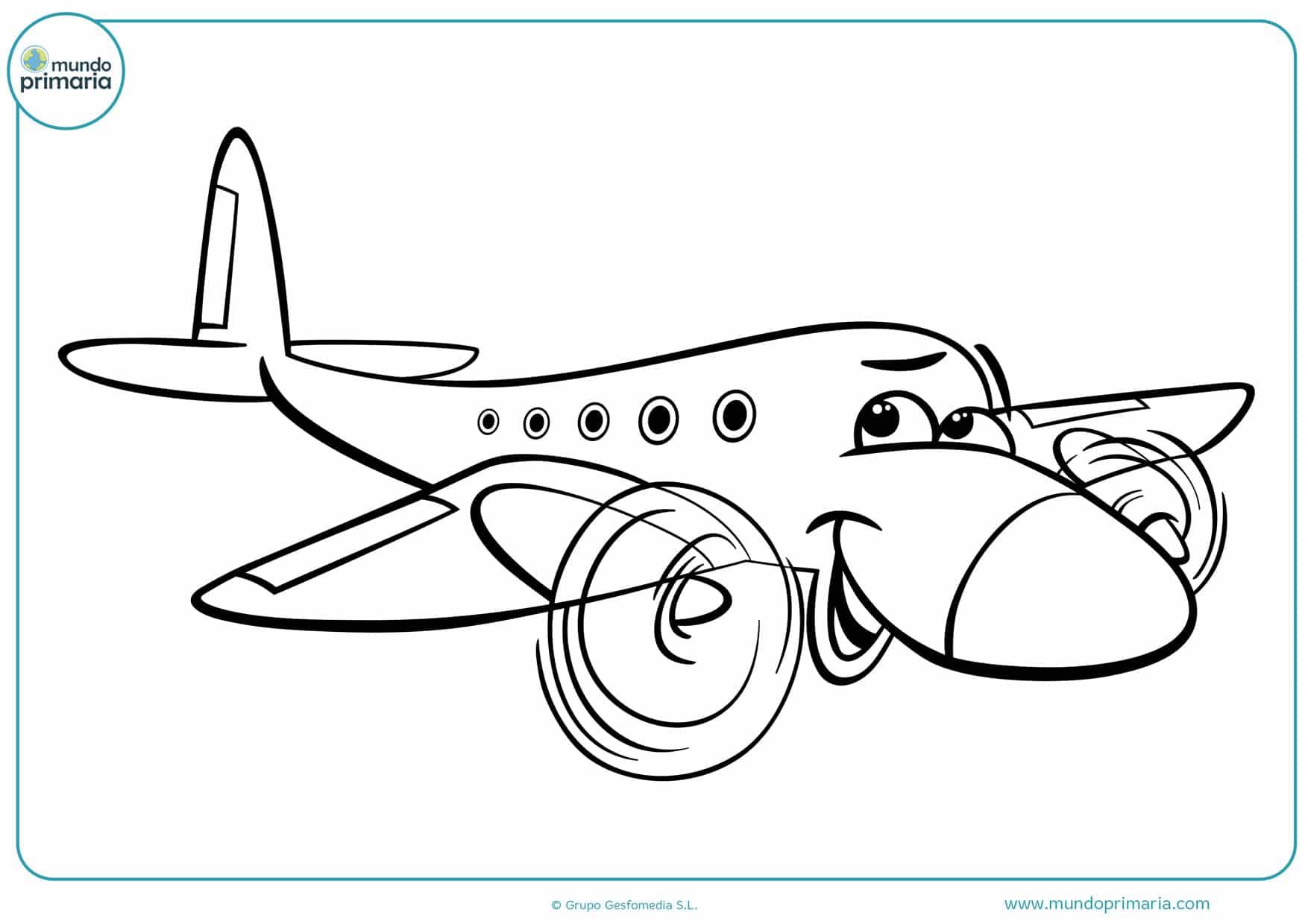 dibujos para colorear de aviones animados