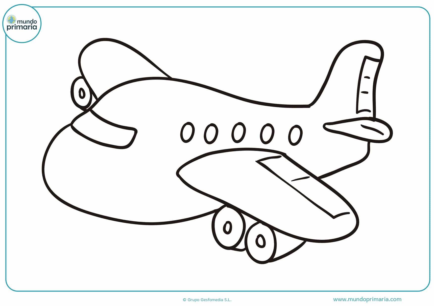 dibujos para colorear de aviones y para imprimir