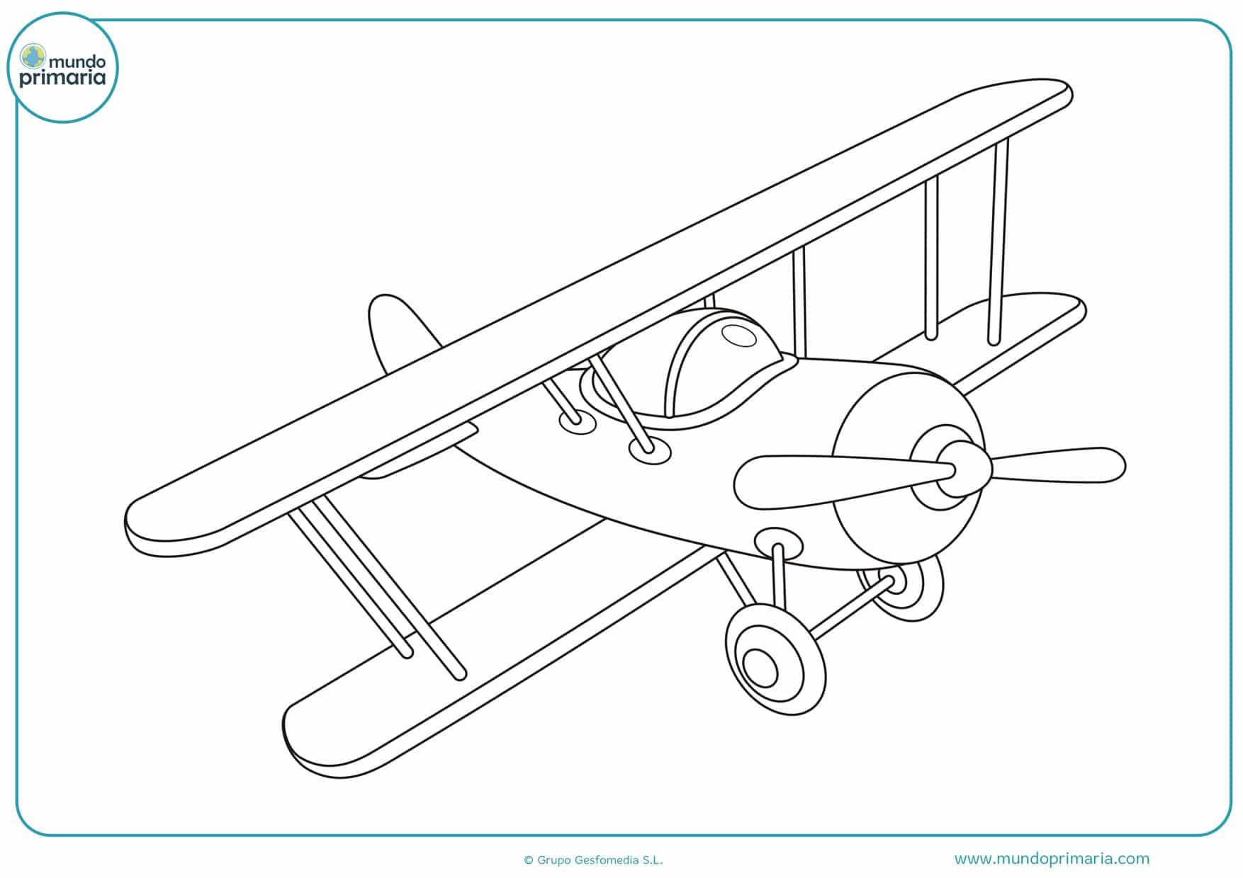 dibujos para colorear de aviones infantiles