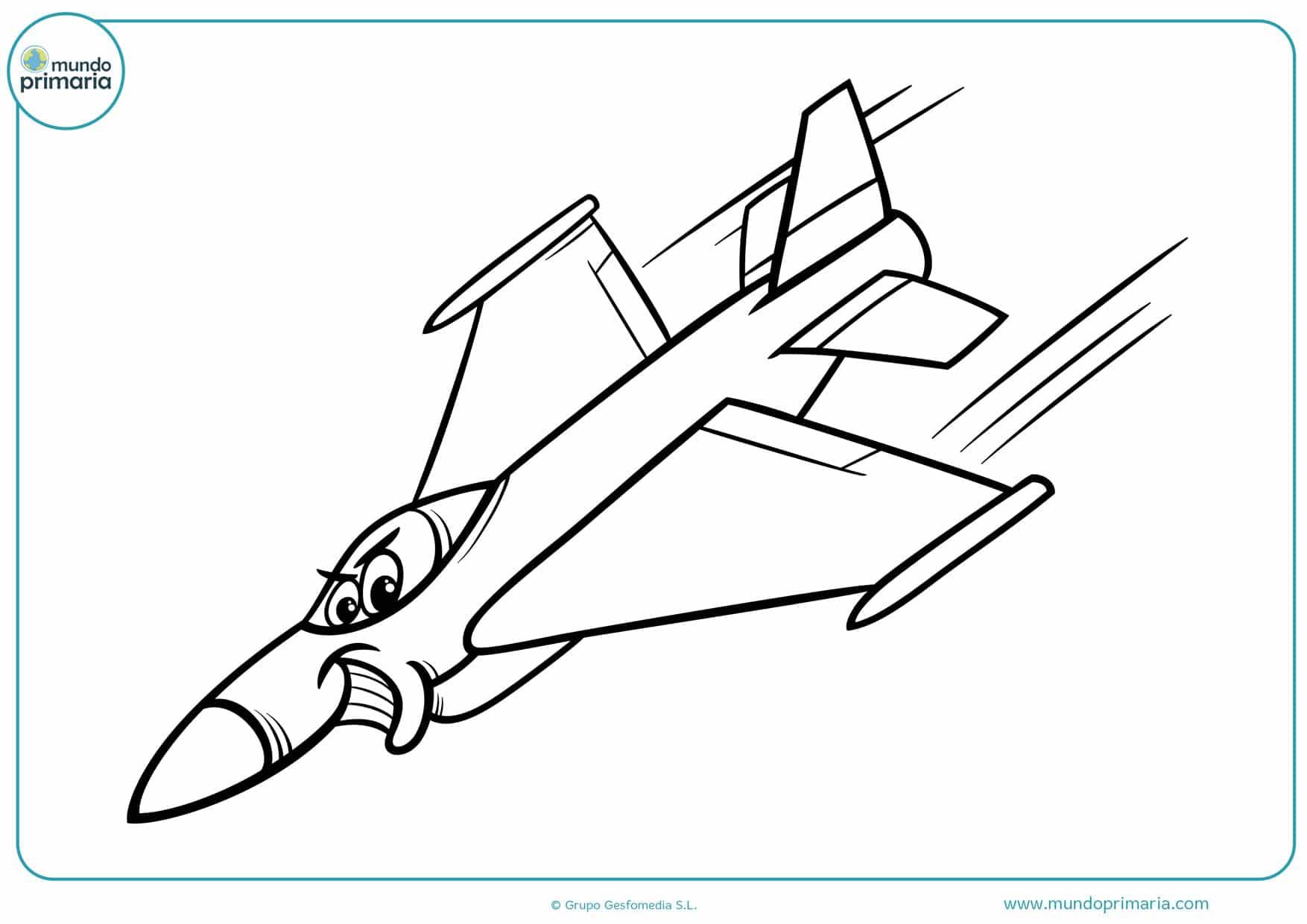 dibujos para colorear de aviones militares