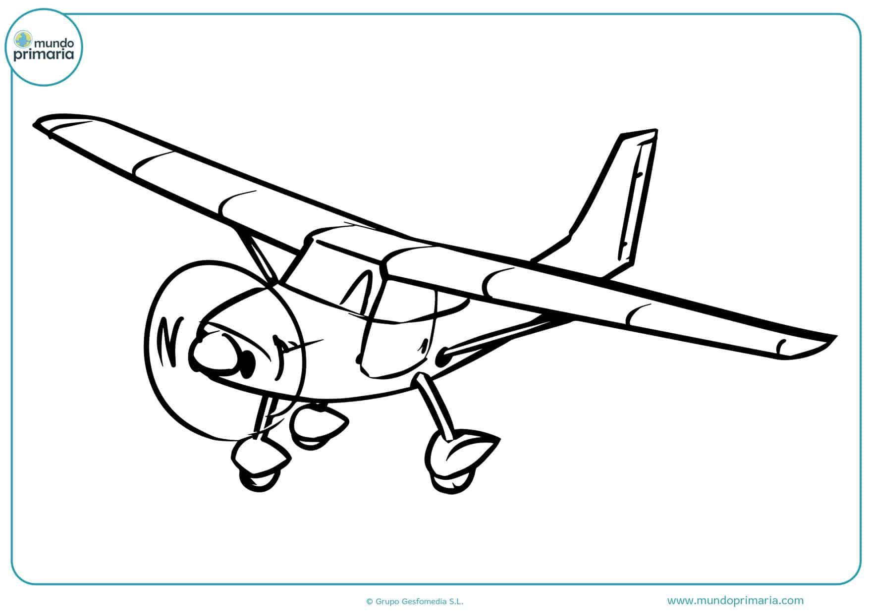 dibujos para colorear de aviones de pasajeros