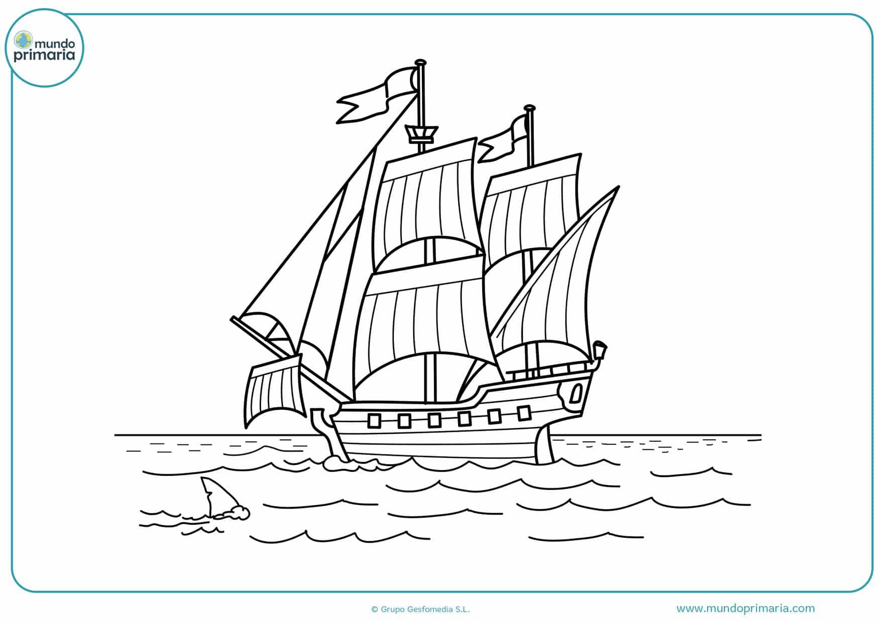 dibujos para colorear de barcos difíciles