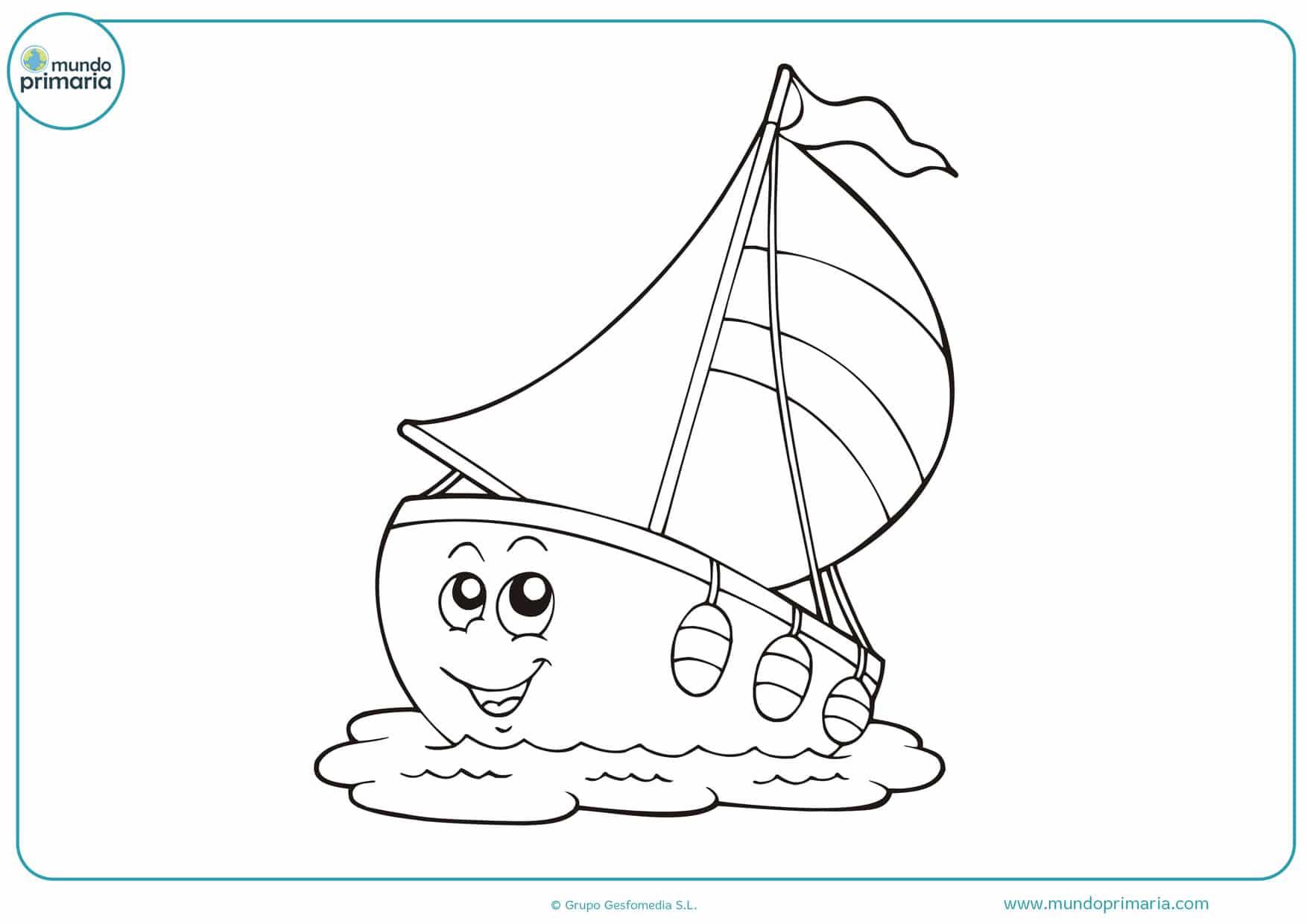dibujos para colorear de barcos infantiles