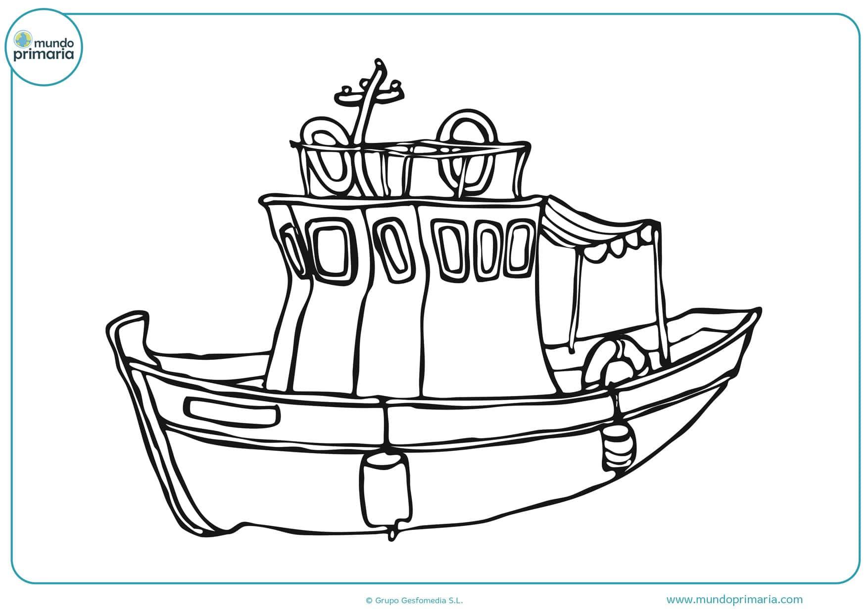 dibujos para colorear de barcos piratas