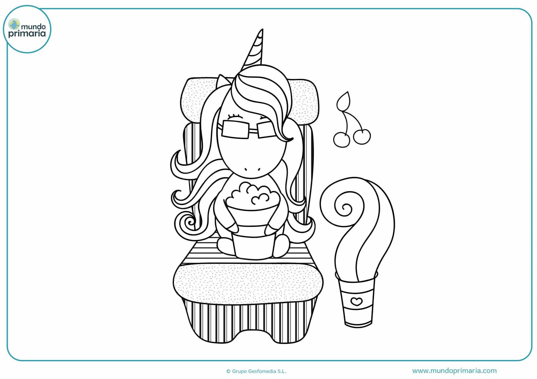 dibujos para colorear de bebes unicornios