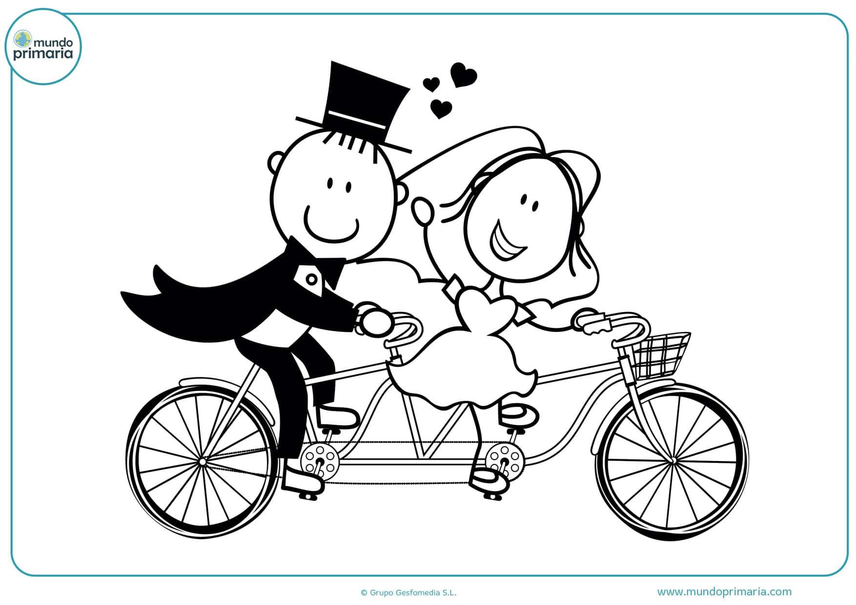 dibujos para colorear de bodas gratis