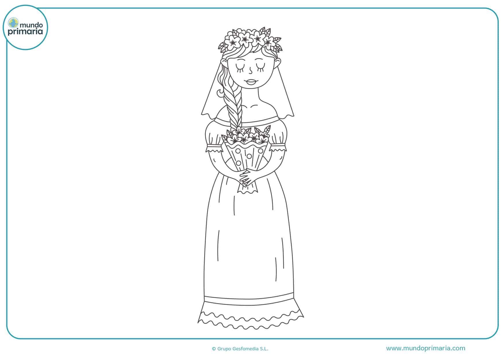 dibujos para colorear de bodas online