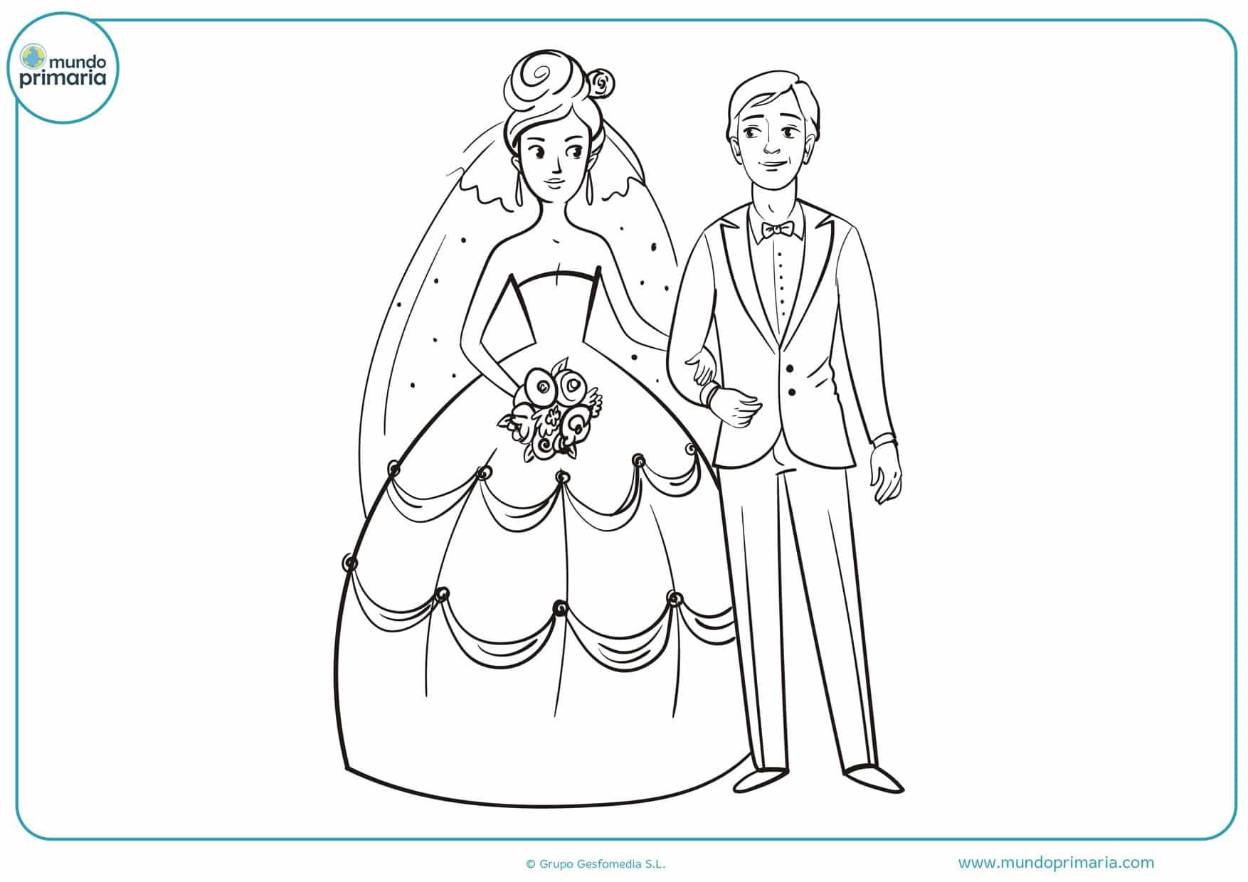dibujos para colorear de bodas de oro