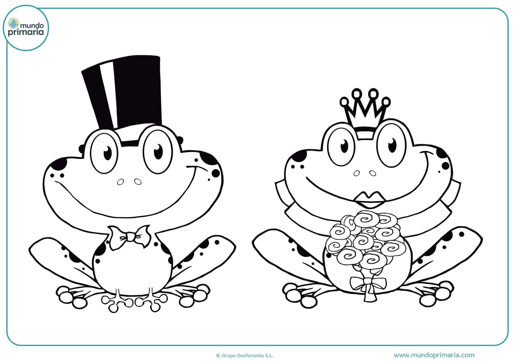 dibujos para colorear de bodas