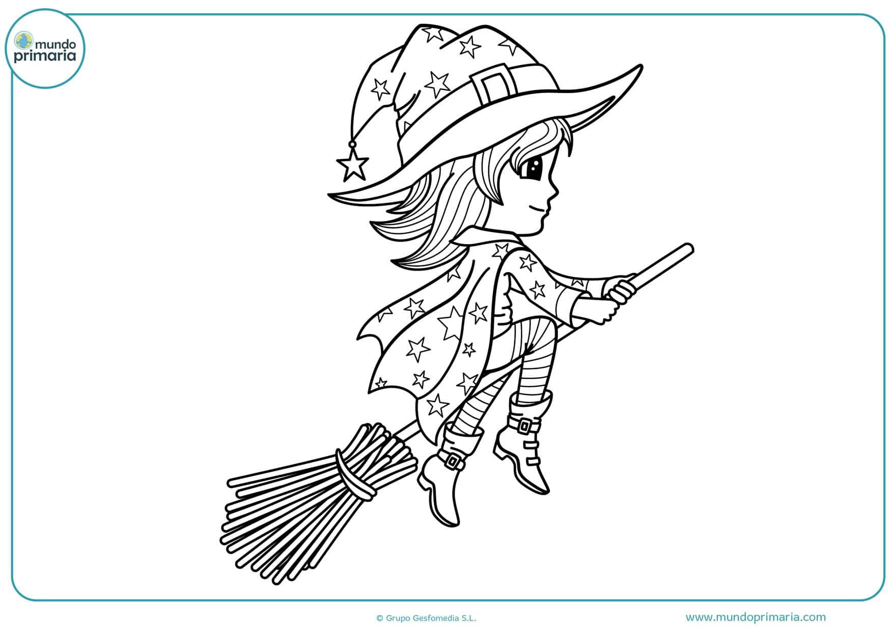 dibujos para colorear de brujas malvadas