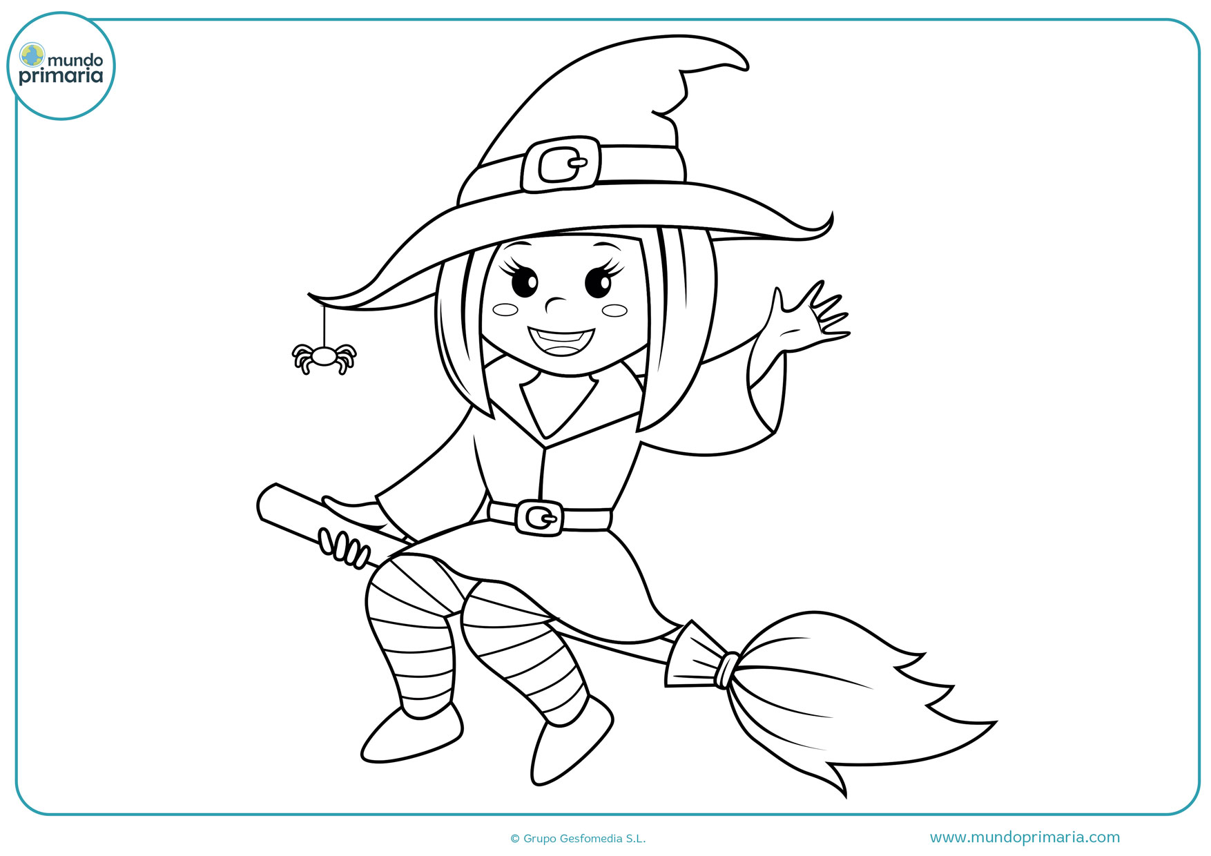 dibujos para colorear de brujas para niños