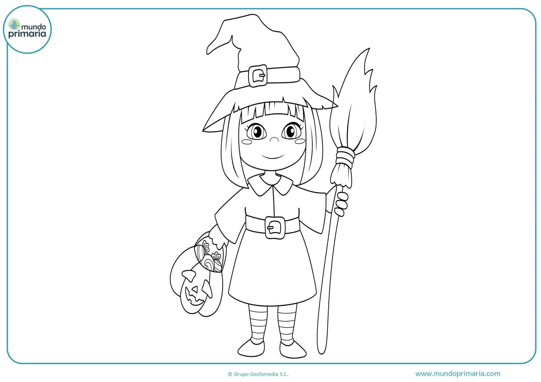 dibujos para colorear de brujas
