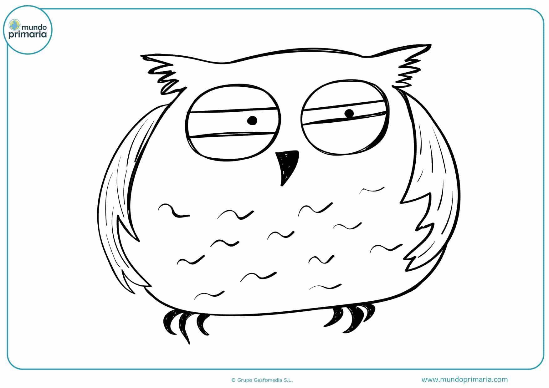 dibujos para colorear de búhos animados