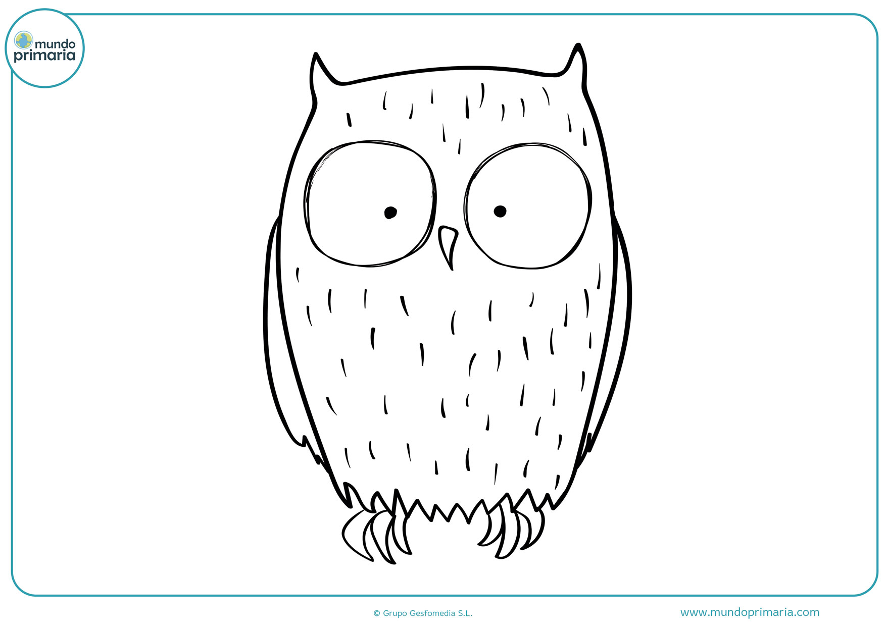dibujos para colorear de búhos difíciles