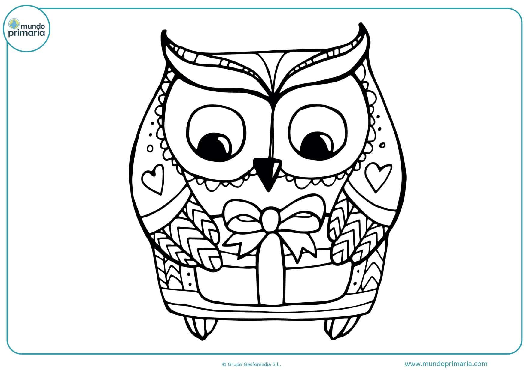 dibujos para colorear de búhos