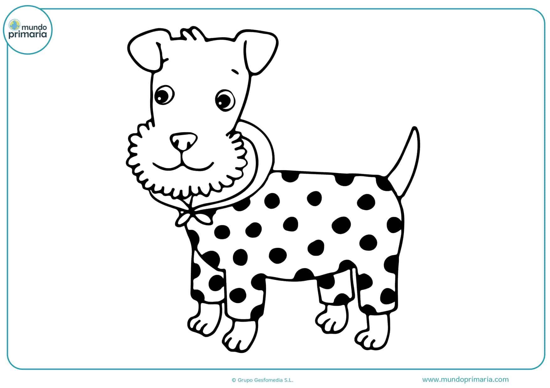 dibujos para colorear de cachorros de perros
