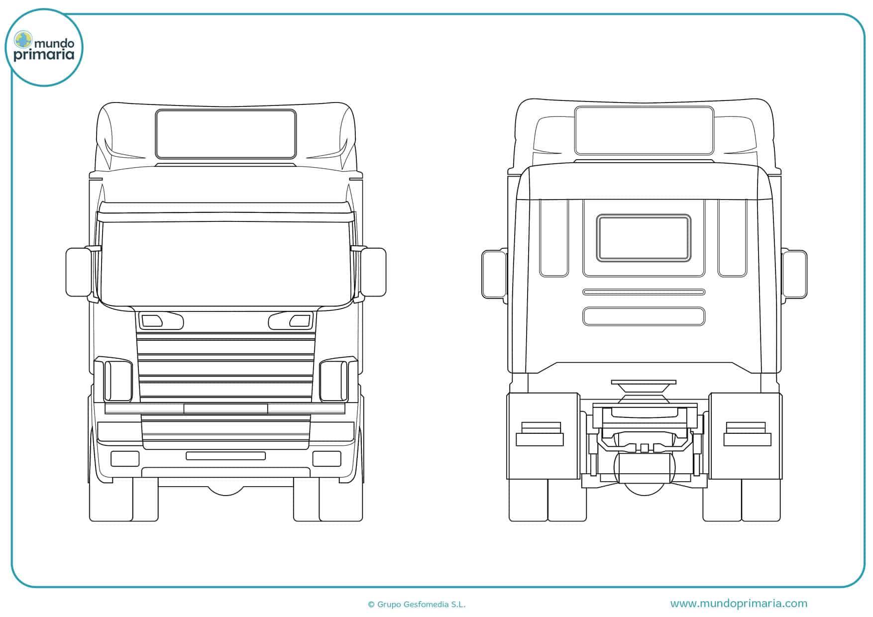 dibujos para colorear de camiones de basura