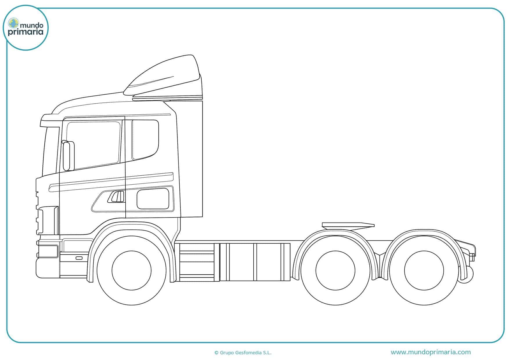 dibujos para colorear de camiones de carga