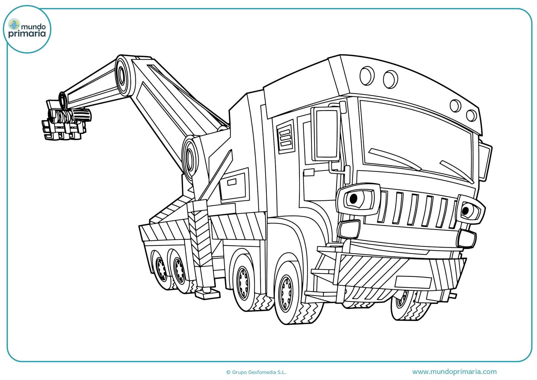 dibujos para colorear de camiones de construcción