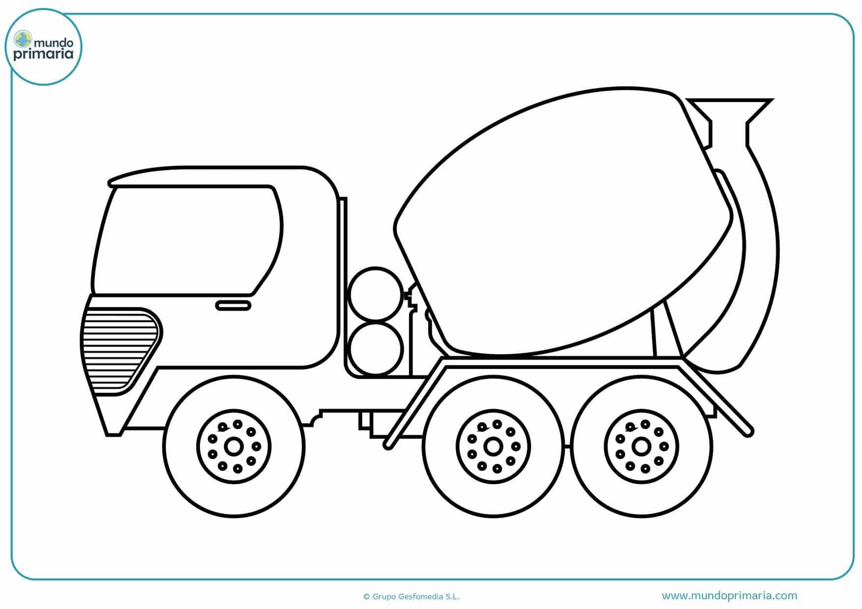 dibujos para colorear de camiones grandes