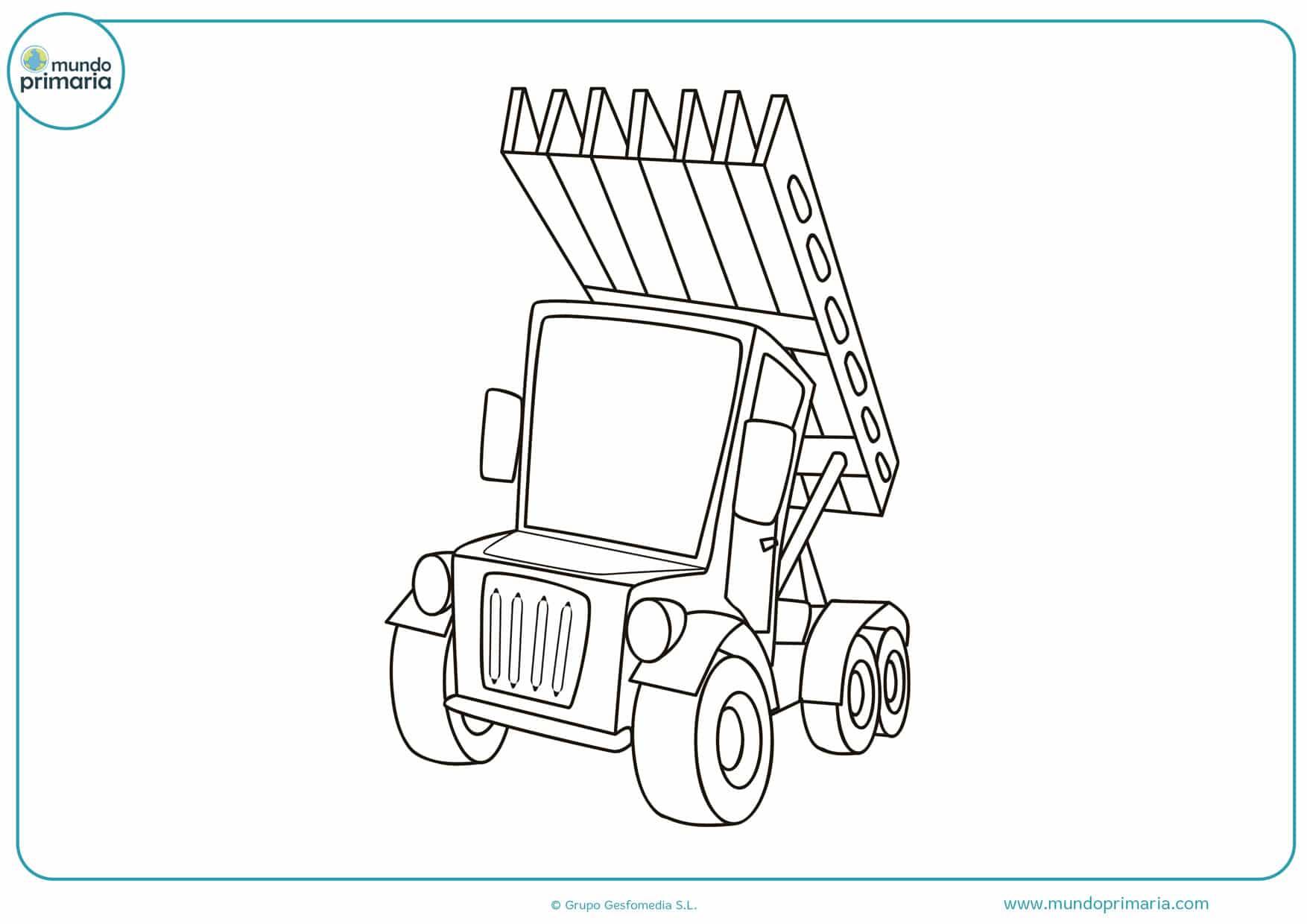 dibujos para colorear de camiones man