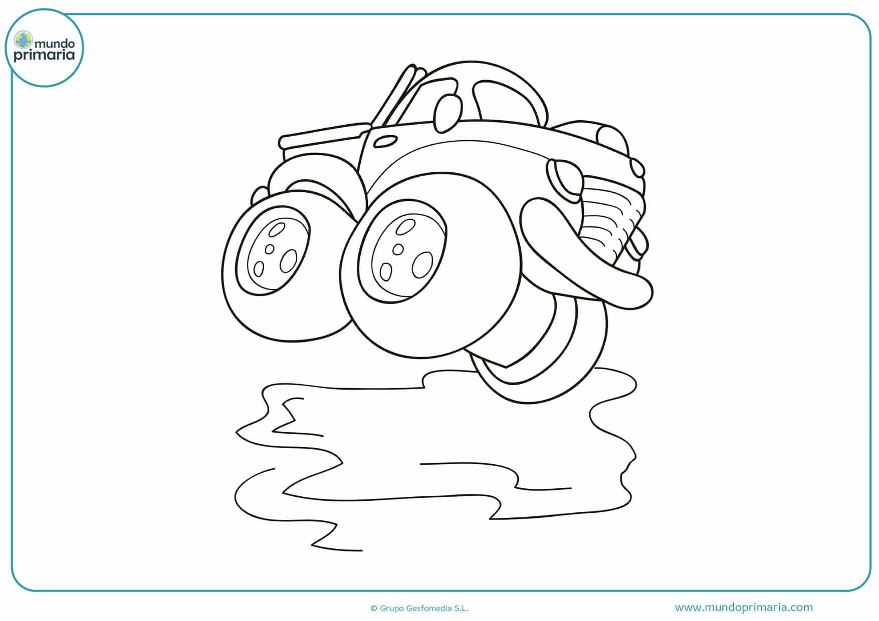 dibujos para colorear de camiones monstruos
