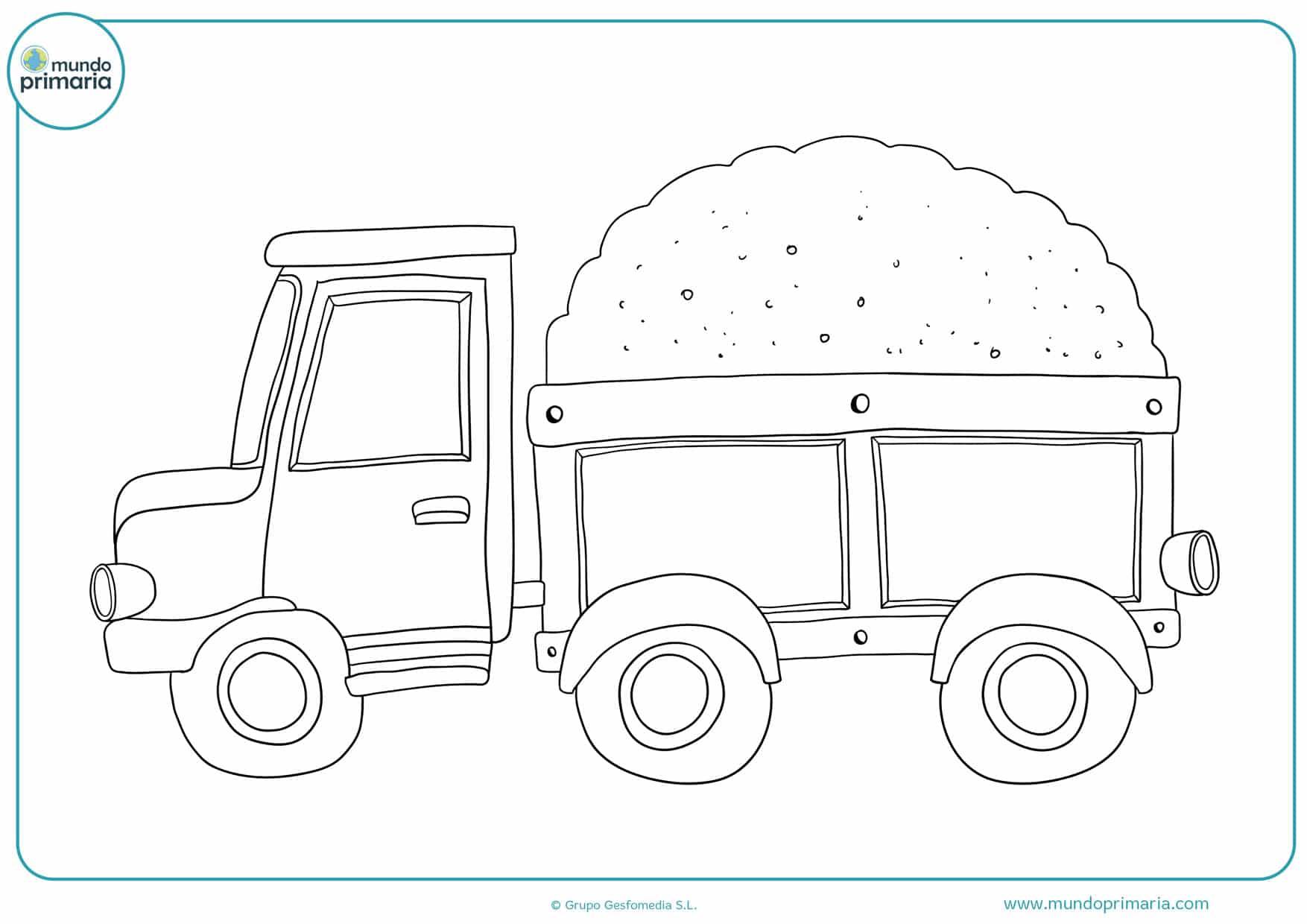 dibujos para colorear de camiones