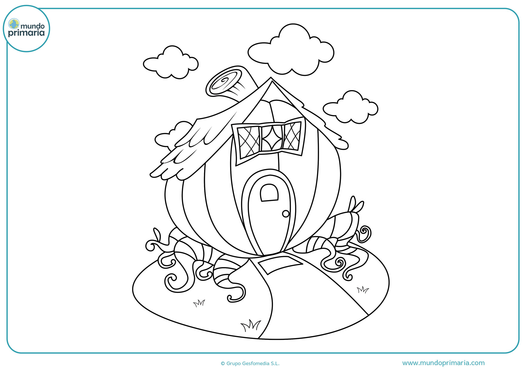 dibujos para colorear de casas de campo