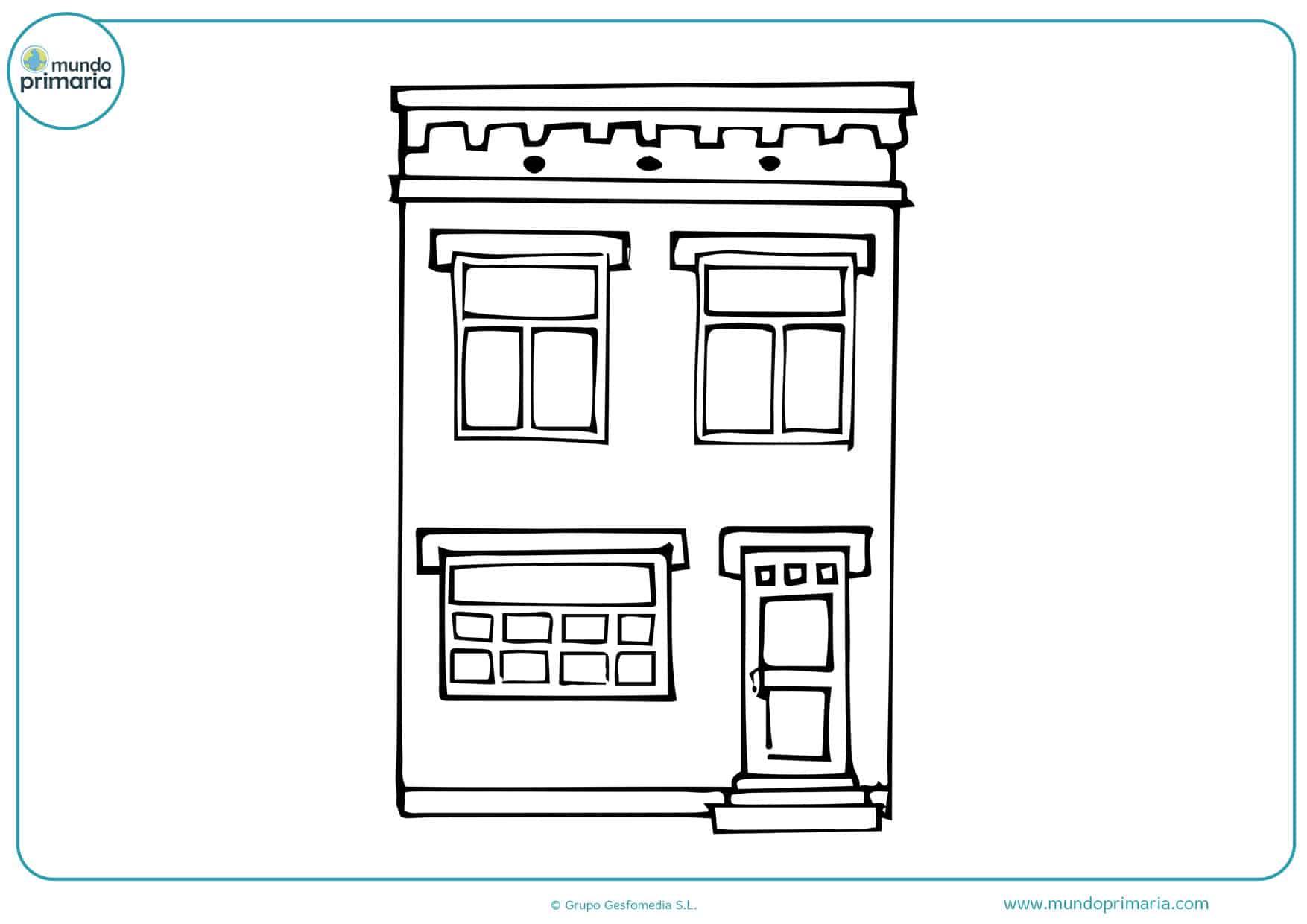 dibujos para colorear de casas grandes