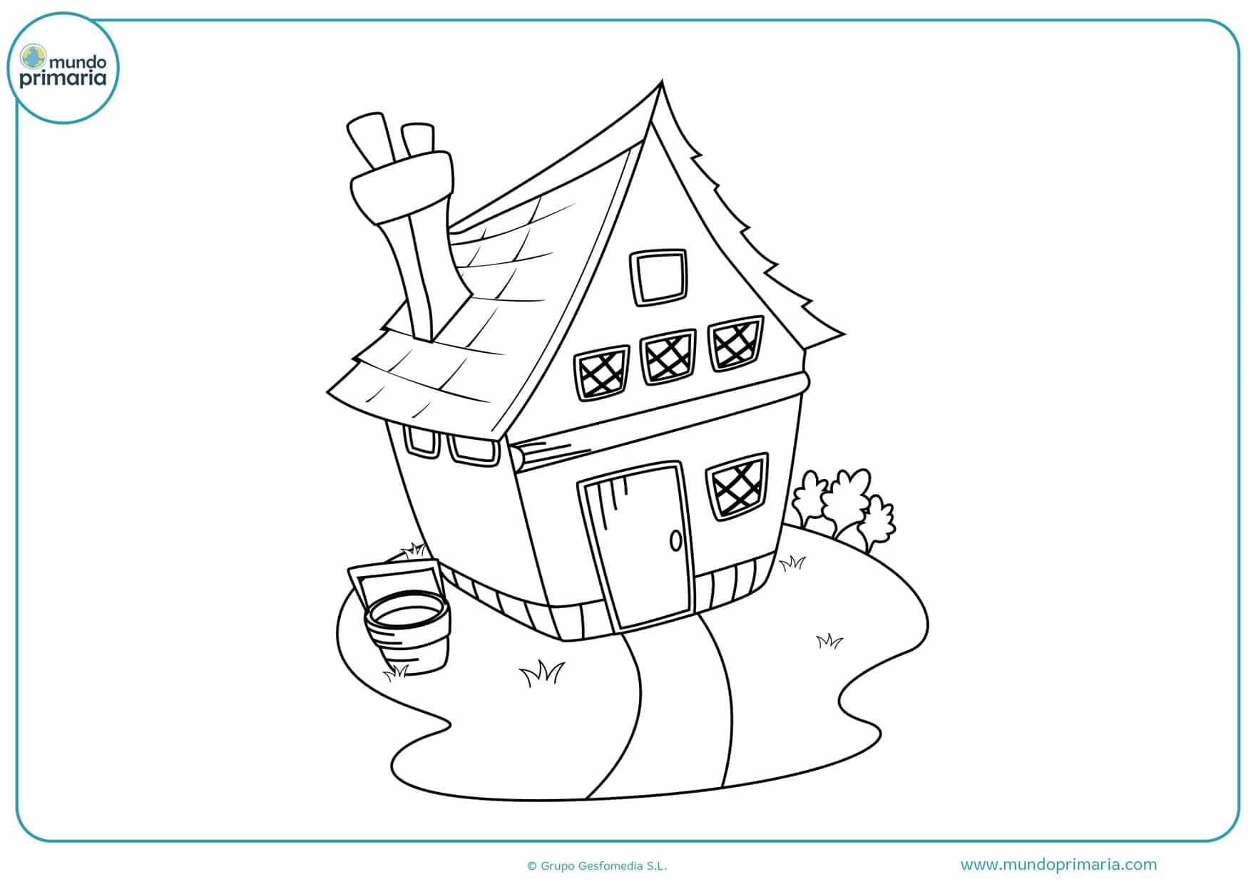 dibujos para colorear de casas infantiles
