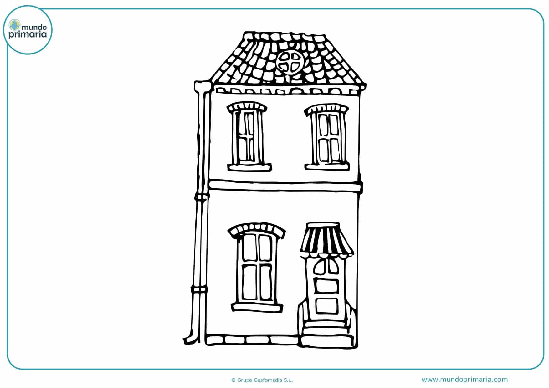 dibujos para colorear de casas modernas