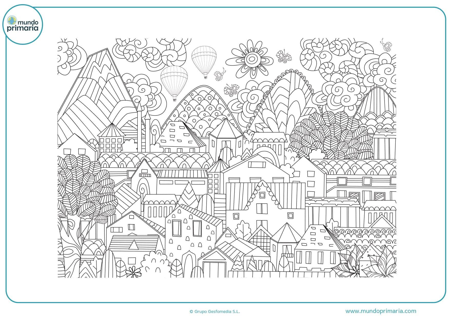 dibujos para colorear de casas de navidad