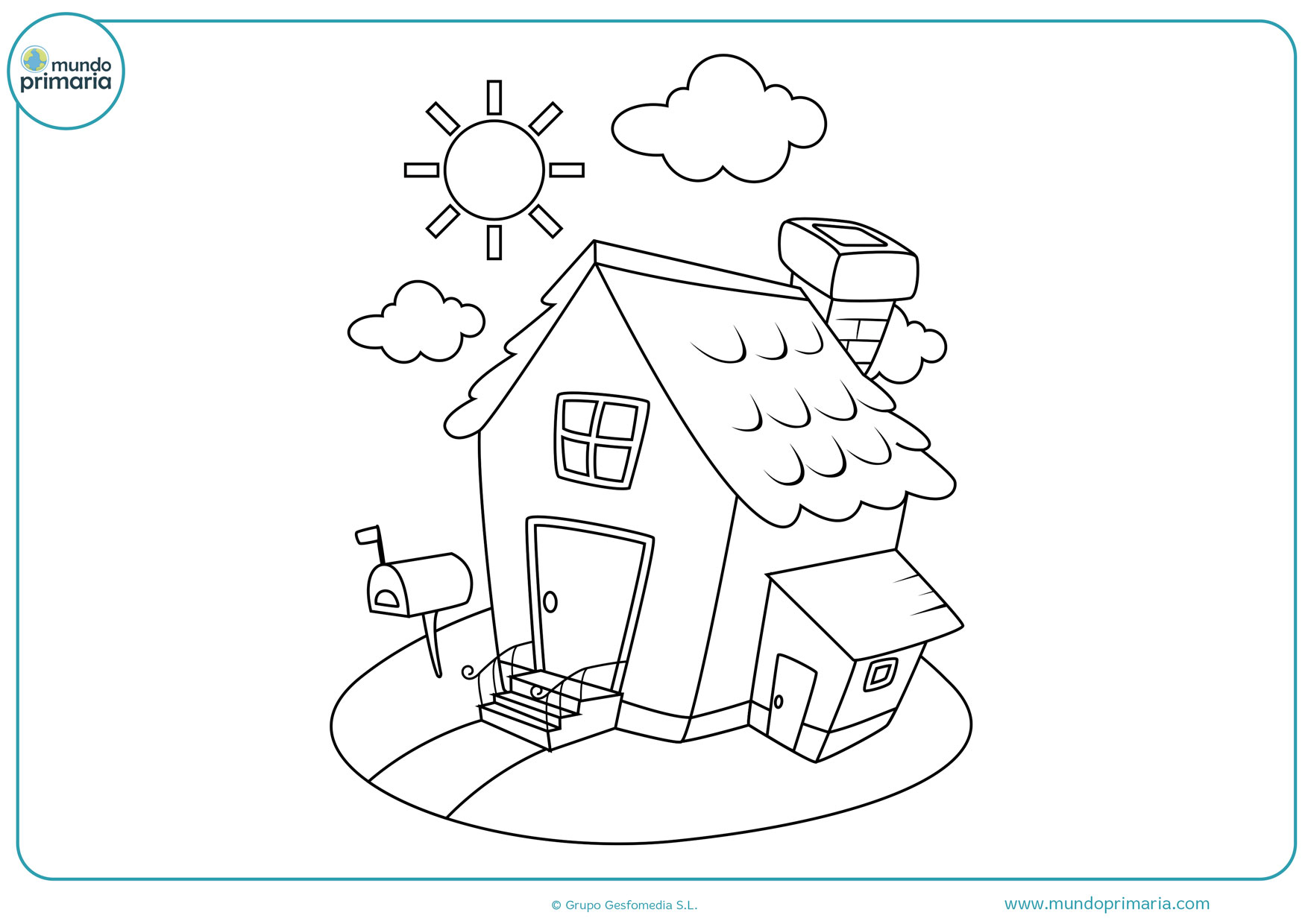 Dibujos De Casas Para Colorear Mundo Primaria