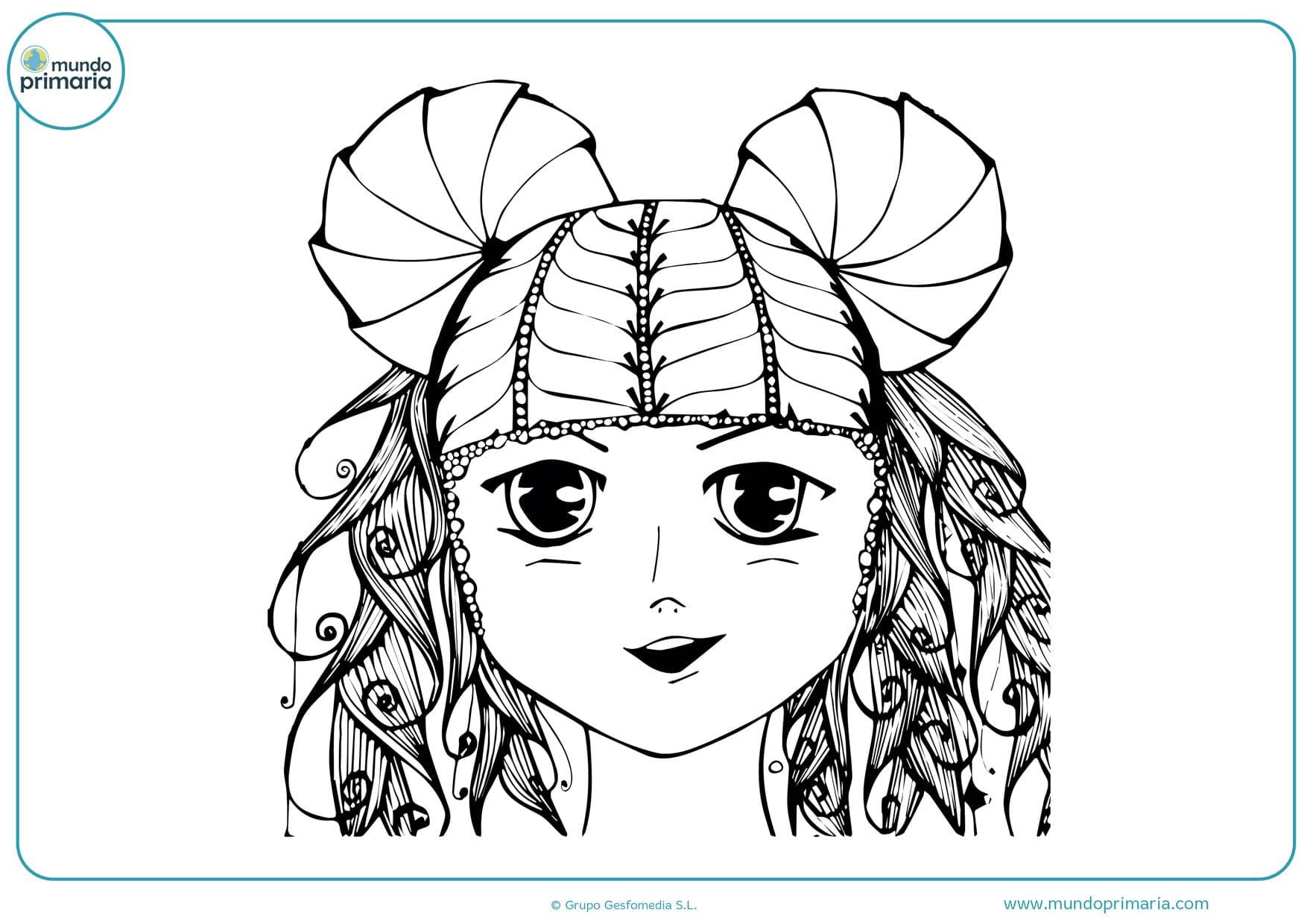 dibujos para colorear de chicas manga