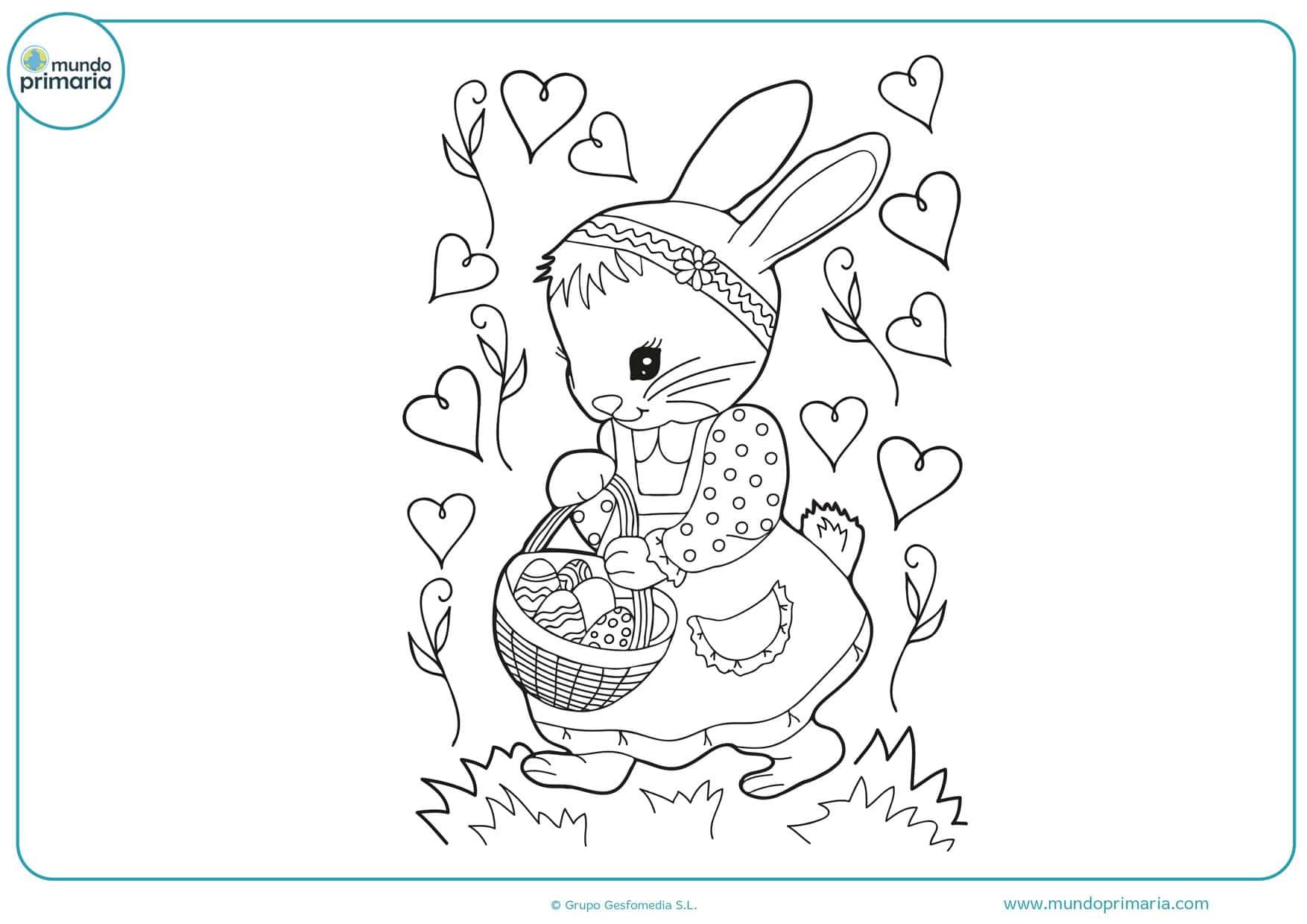 dibujos para colorear de conejos tiernos