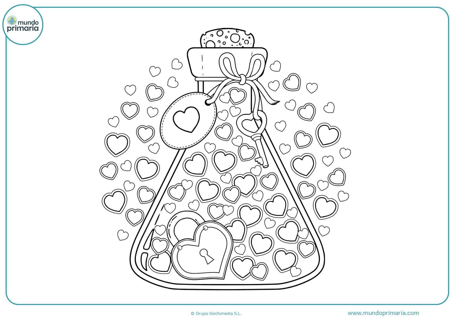 dibujos para colorear de corazones chidos