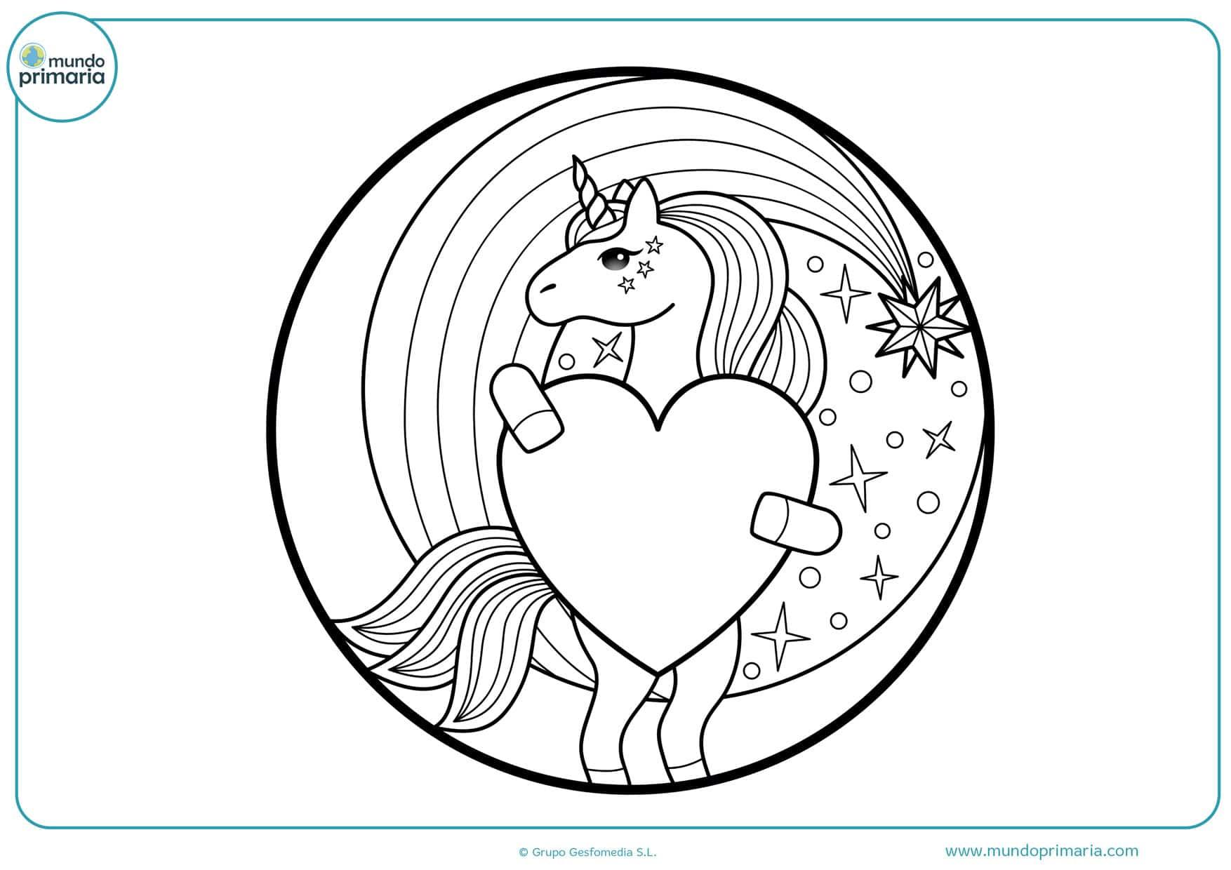dibujos para colorear de corazones y estrellas