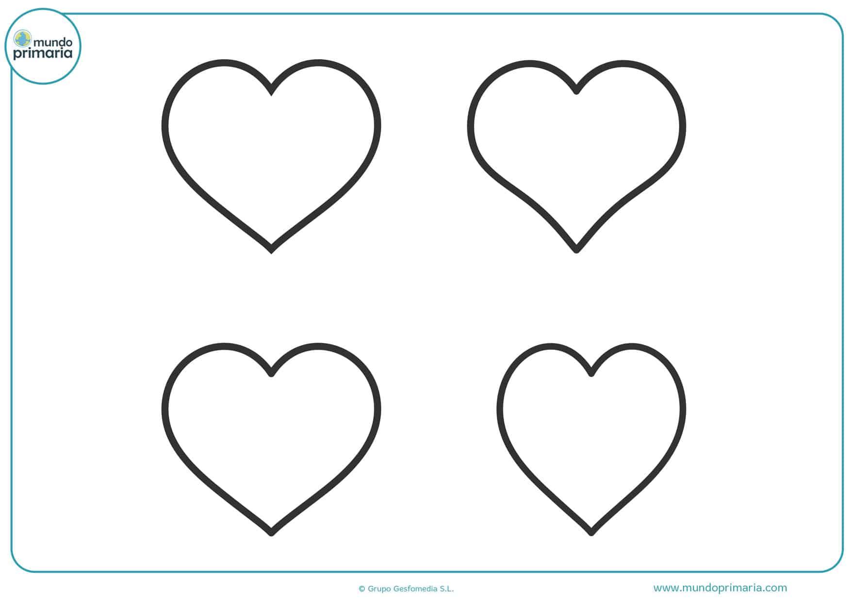 dibujos para colorear de corazones grandes