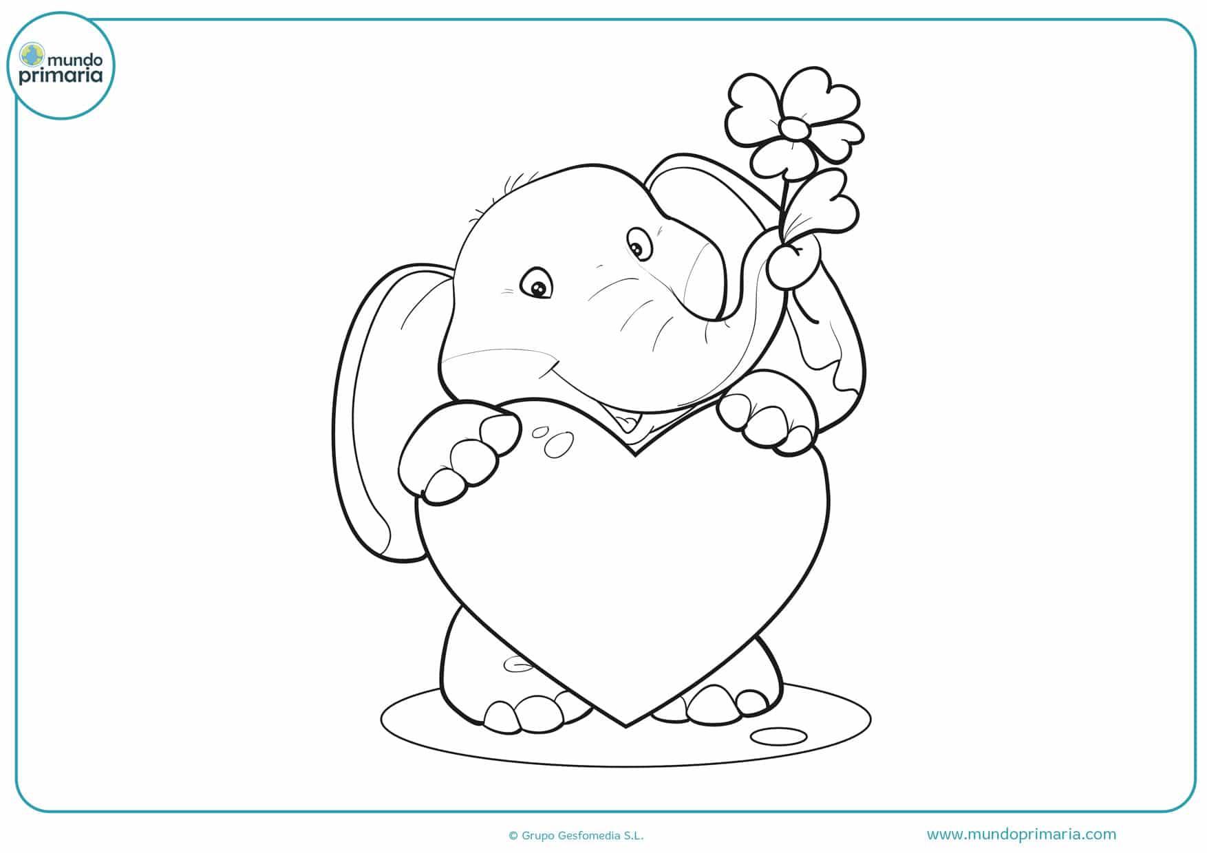 dibujos para colorear de corazones para imprimir