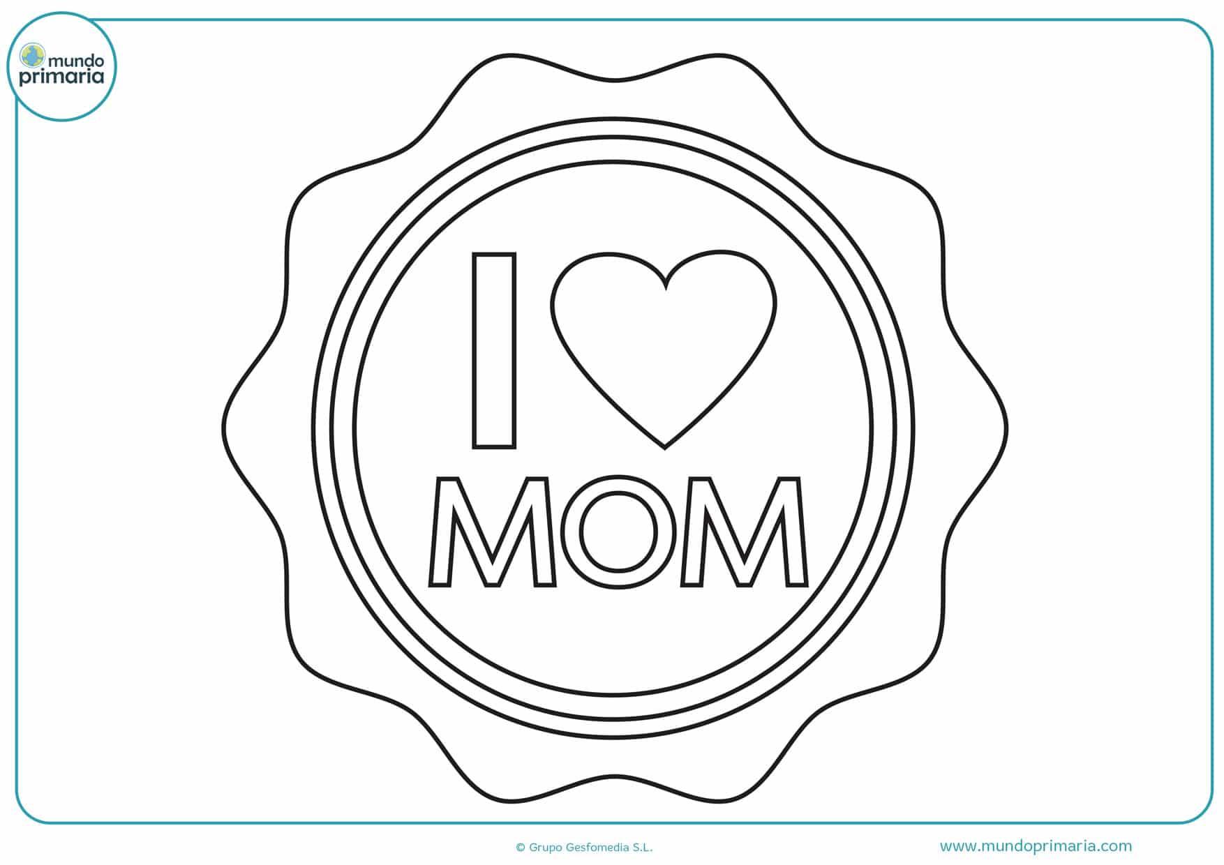 dibujos para colorear del día de la madre en ingles