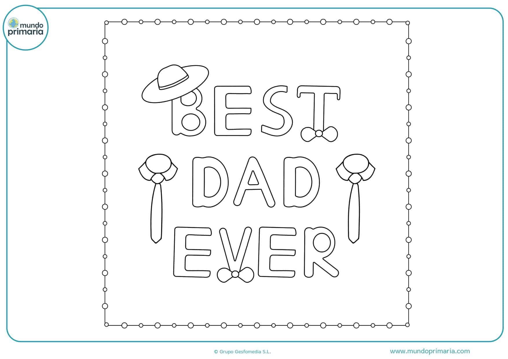 dibujos para colorear del día del padre bonitos