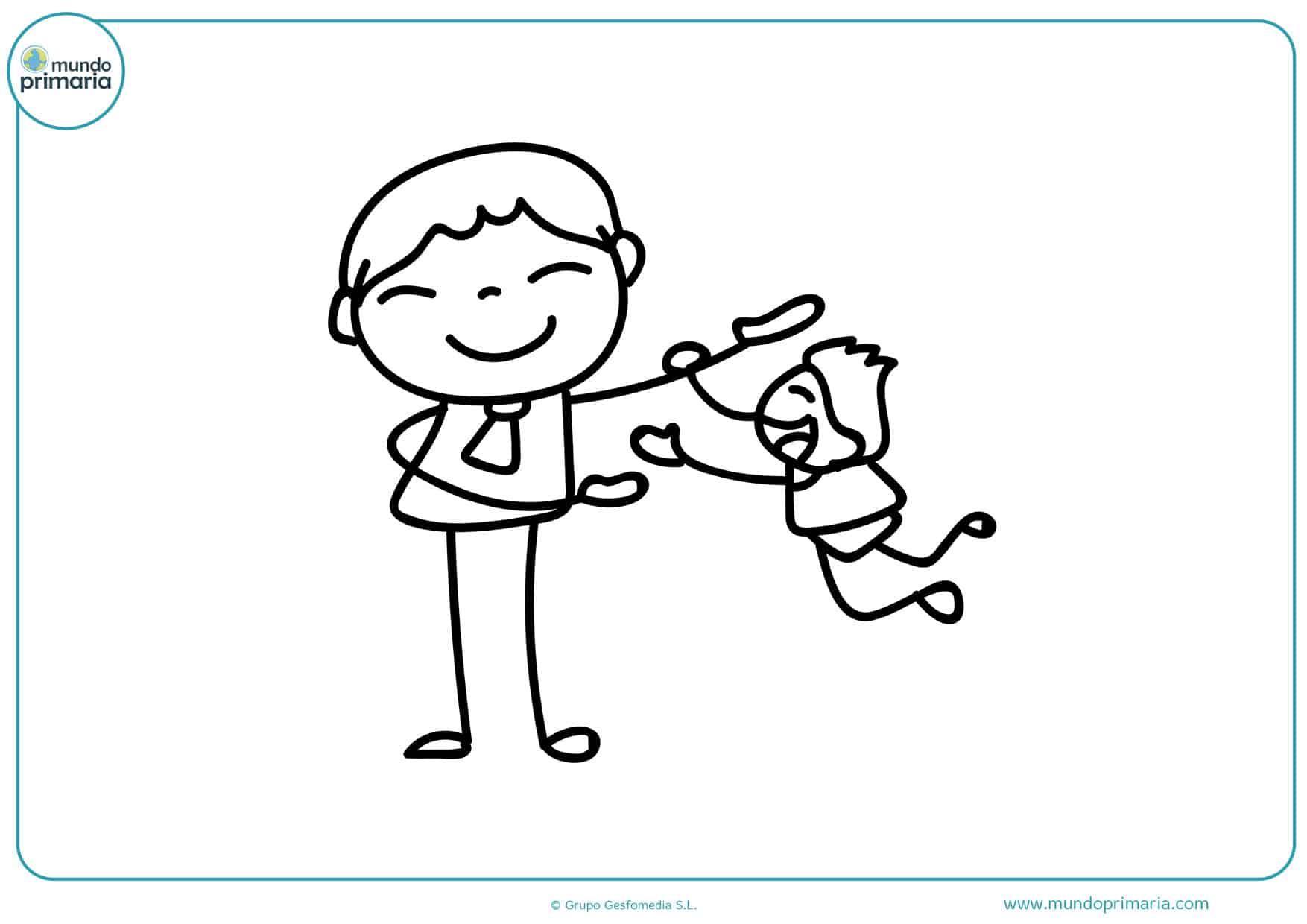dibujos para colorear día del padre gratis