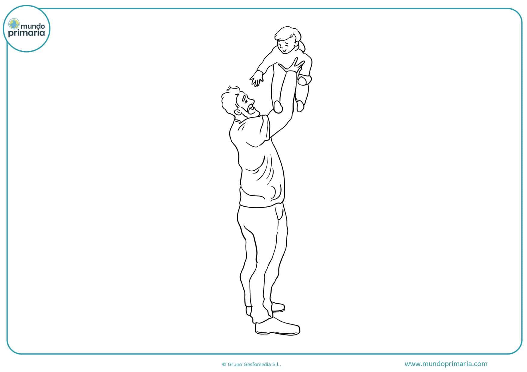 dibujos para colorear día del padre preescolar