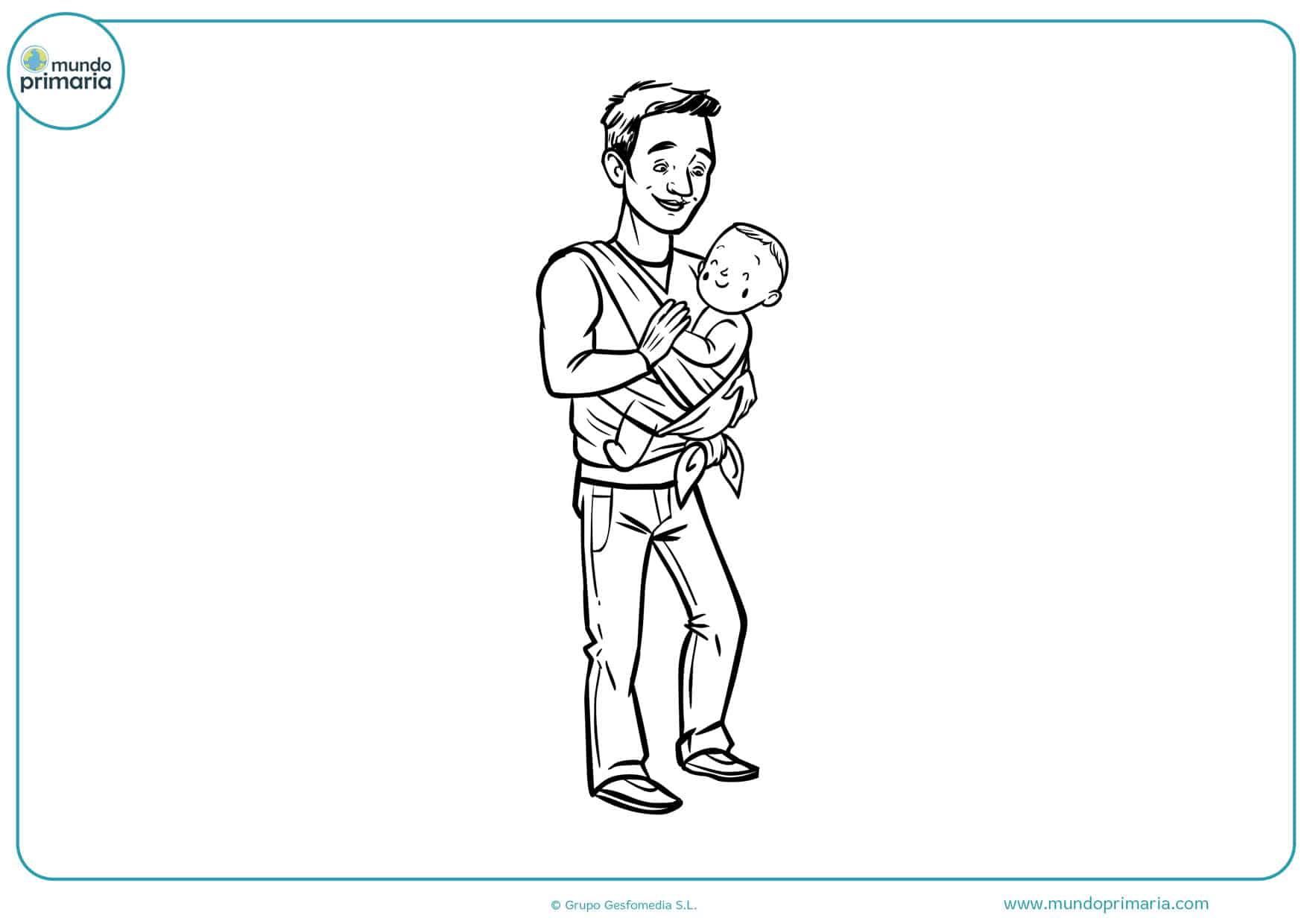 Dibujos Del Día Del Padre Para Colorear Un Gran Regalo