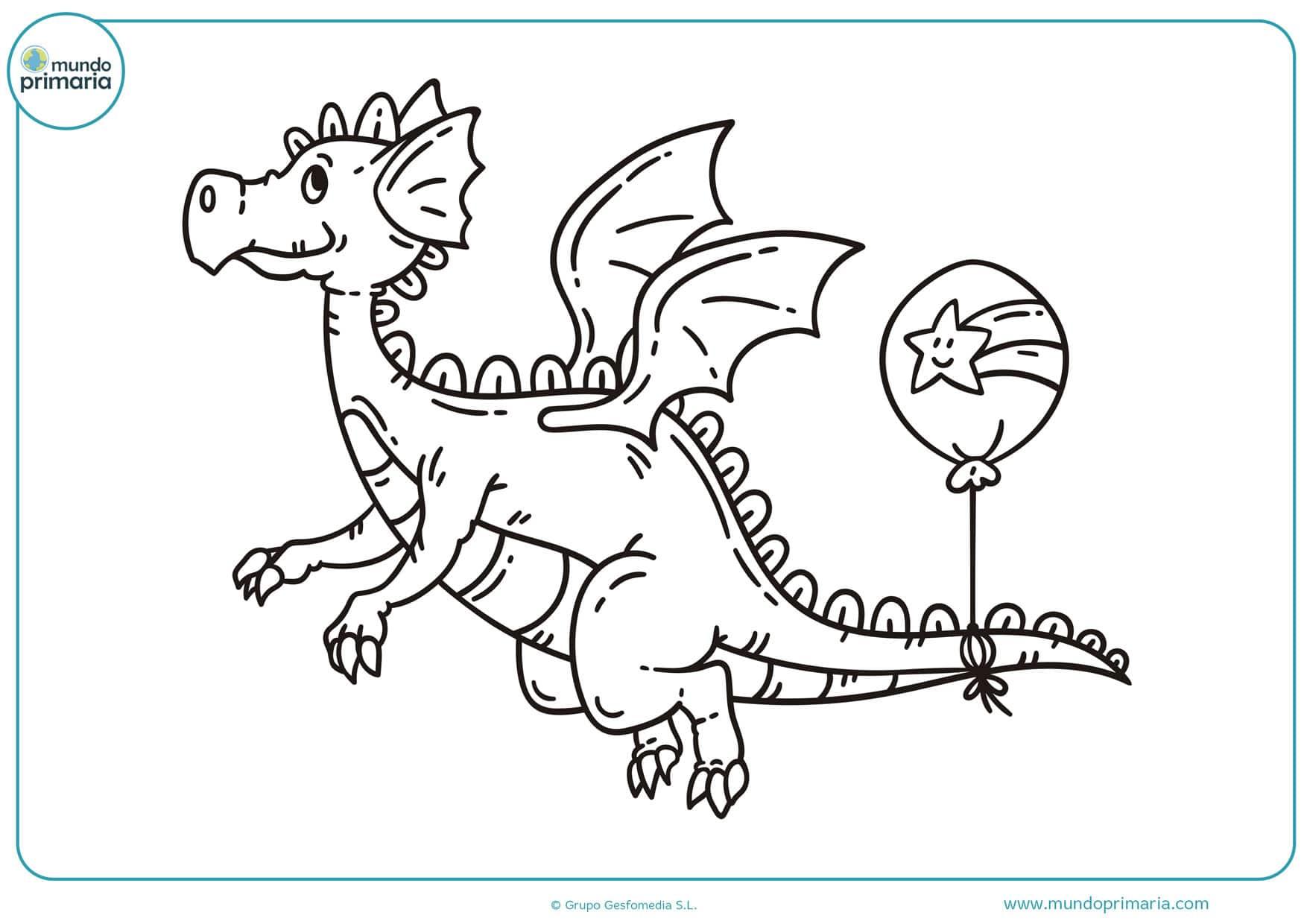 dibujos para colorear difíciles de dragones