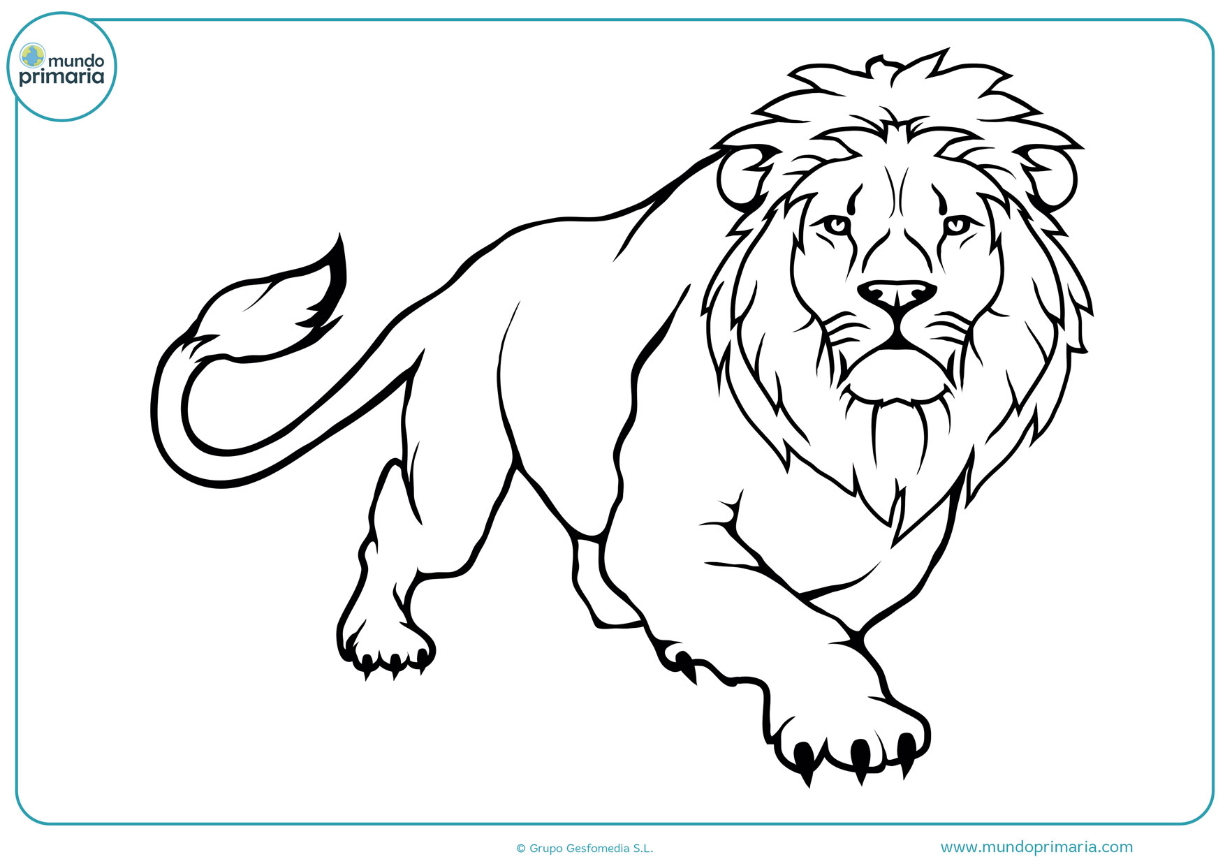 dibujos para colorear difíciles de leones