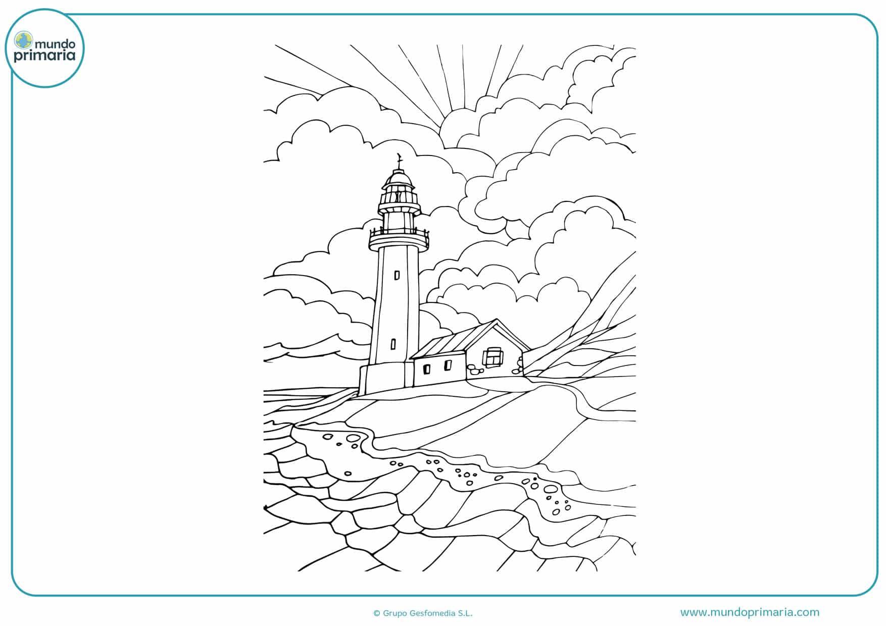 dibujos para colorear difíciles de paisajes