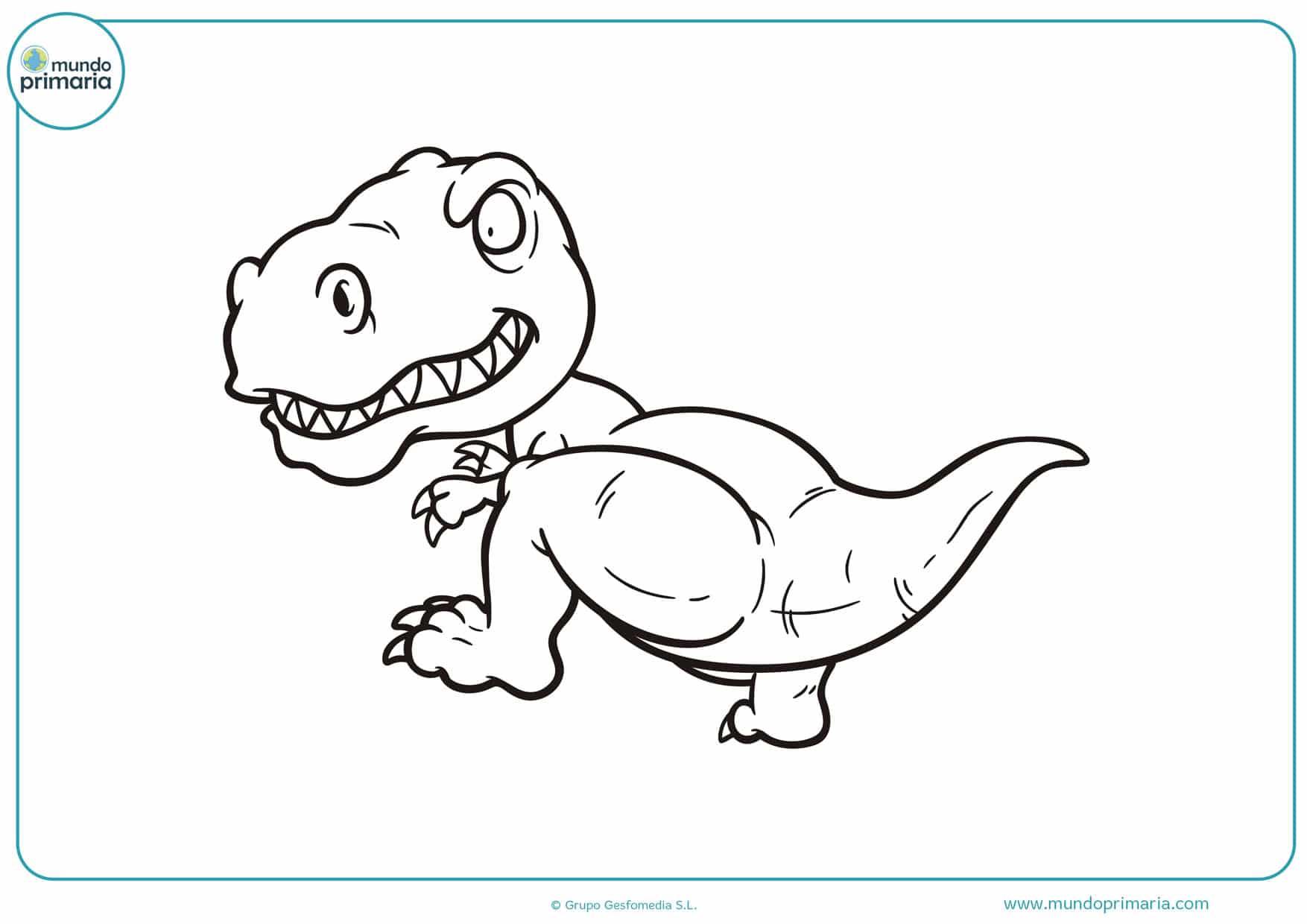 dibujos para colorear de dinosaurios bebes